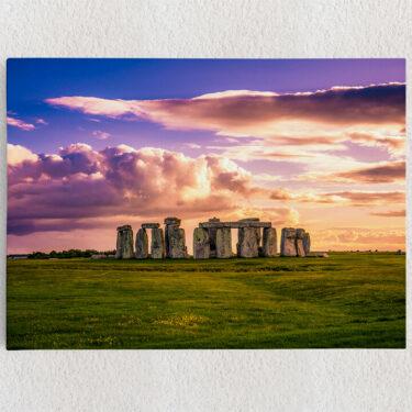 Personalisiertes Leinwandbild Stonehenge