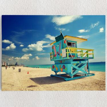 Personalisiertes Leinwandbild Strand von Miami
