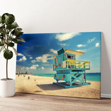 Strand von Miami Wandbild personalisiert