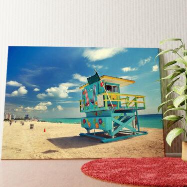 Personalisiertes Wandbild Strand von Miami