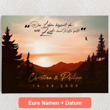 Personalisiertes Leinwandbild Sunset