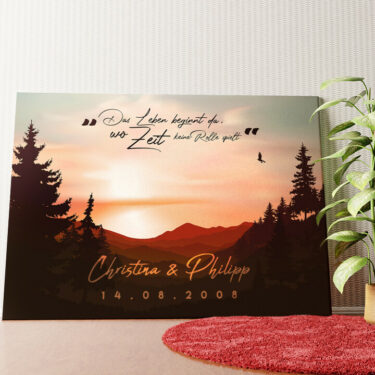 Personalisiertes Wandbild Sunset