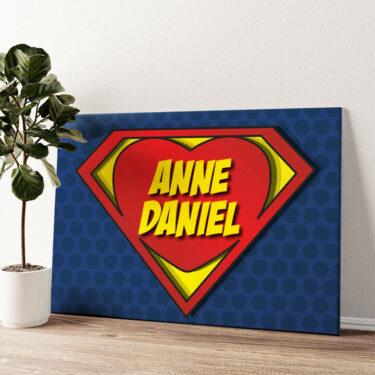 Super Love Wandbild personalisiert