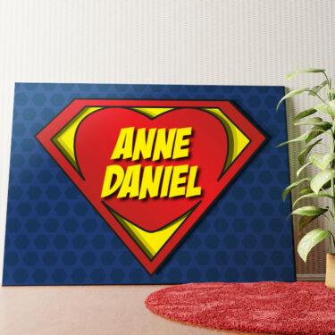 Personalisiertes Wandbild Super Love