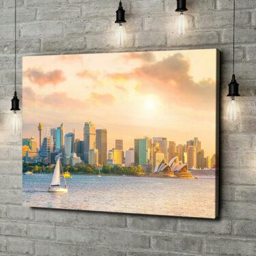 Leinwandbild personalisiert Sydney Skyline