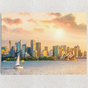 Personalisiertes Leinwandbild Sydney Skyline