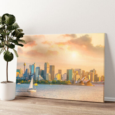 Sydney Skyline Wandbild personalisiert
