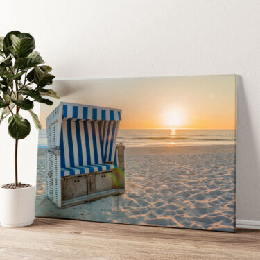 Sylter Strand Wandbild personalisiert