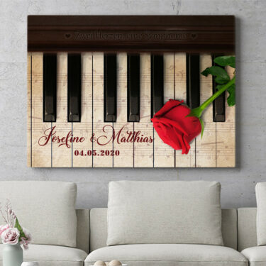 Personalisierbares Geschenk Symphonie der Herzen