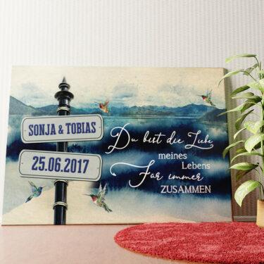 Personalisiertes Wandbild Tag am See