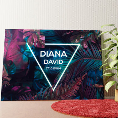 Personalisiertes Wandbild Tech Jungle