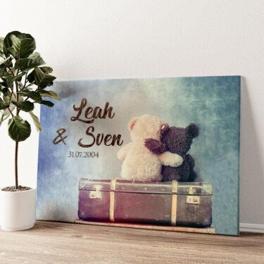 Teddybears Wandbild personalisiert