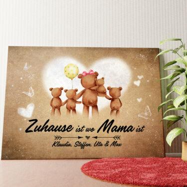 Personalisiertes Wandbild Teddymama