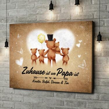 Leinwandbild personalisiert Teddypapa