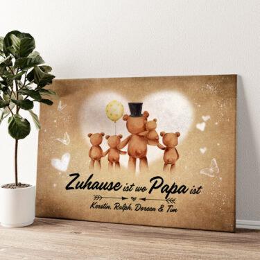 Teddypapa Wandbild personalisiert