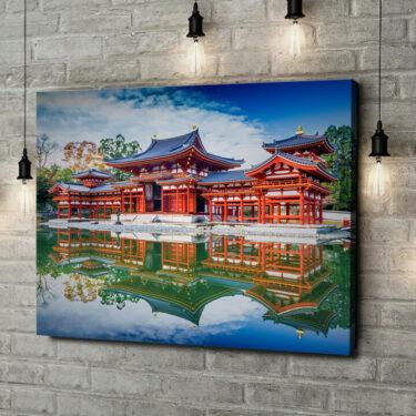Leinwandbild personalisiert Tempel Uji Kyoto Japan