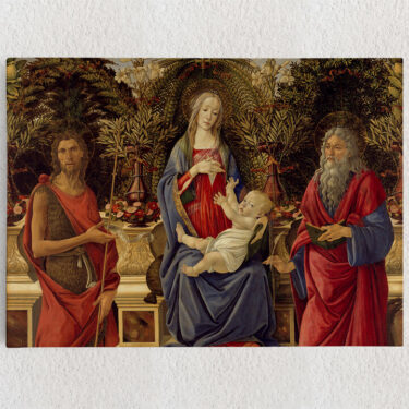 Personalisiertes Leinwandbild Thronende Maria mit dem Kind und den beiden Johannes