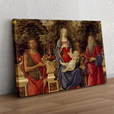Thronende Maria mit dem Kind und den beiden Johannes