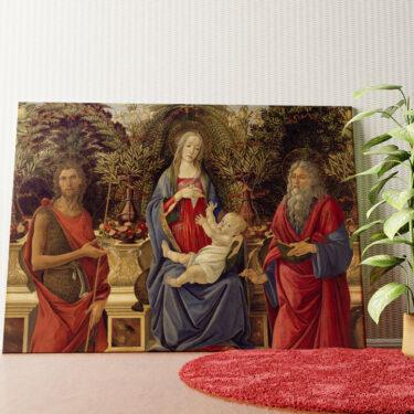 Personalisiertes Wandbild Thronende Maria mit dem Kind und den beiden Johannes