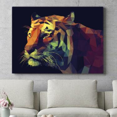 Personalisierbares Geschenk Tiger Polygon