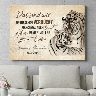 Personalisierbares Geschenk Tigerliebe