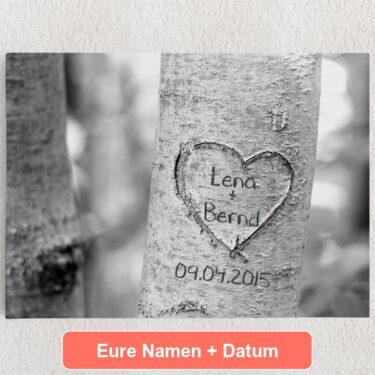 Personalisiertes Leinwandbild Treeheart