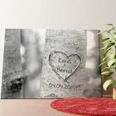 Personalisiertes Wandbild Treeheart