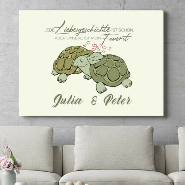 Personalisierbares Geschenk Turtle Love