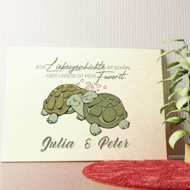 Personalisiertes Wandbild Turtle Love