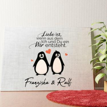 Personalisiertes Wandbild Twosome Penguins