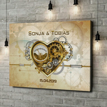 Leinwandbild personalisiert Uhrwerk der Unendlichkeit