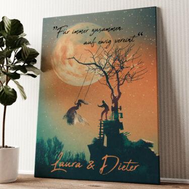 Under The Moon Wandbild personalisiert
