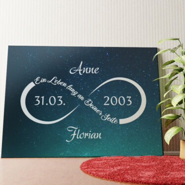 Personalisiertes Wandbild Unendliche Liebe