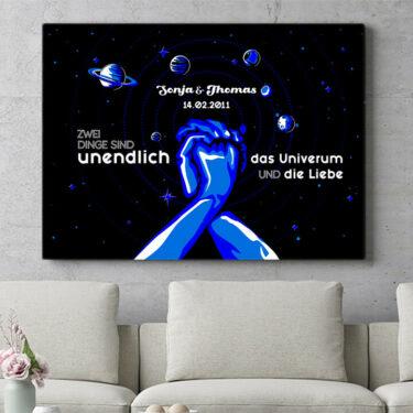 Personalisierbares Geschenk Unser Universum
