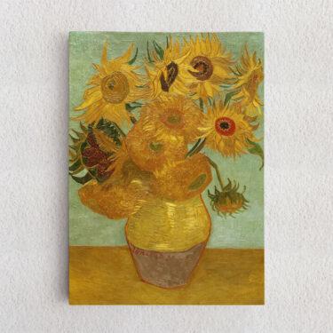 Personalisiertes Leinwandbild Vase mit Sonnenblumen