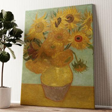 Vase mit Sonnenblumen Wandbild personalisiert