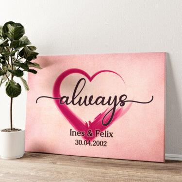 Verliebt Wandbild personalisiert
