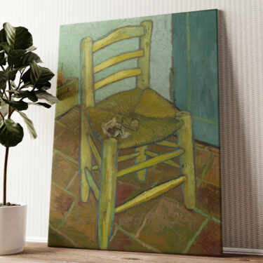 Vincents Stuhl mit Pfeife Wandbild personalisiert