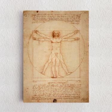 Personalisiertes Leinwandbild Vitruvianischer Mensch