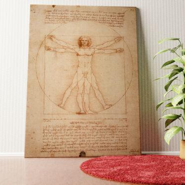Personalisiertes Wandbild Vitruvianischer Mensch