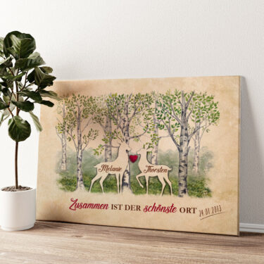 Waldromantik Wandbild personalisiert
