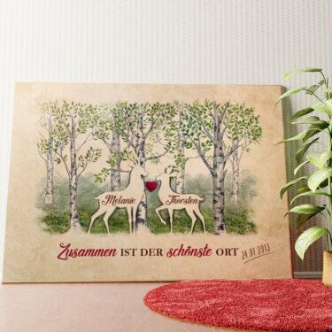 Personalisiertes Wandbild Waldromantik