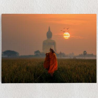 Personalisiertes Leinwandbild Wat Muang Angthong Tempel