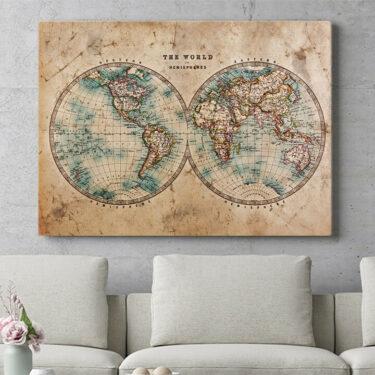 Personalisierbares Geschenk Weltkarte