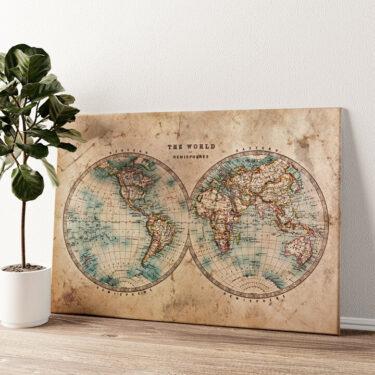 Weltkarte Wandbild personalisiert
