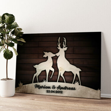 Wilde Romantik Wandbild personalisiert