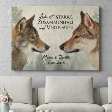 Personalisierbares Geschenk Wolf Love