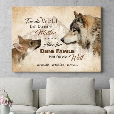 Personalisierbares Geschenk Wolfsmutter