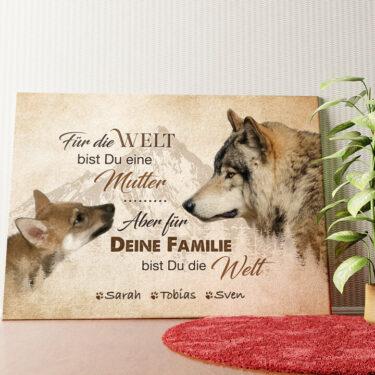 Personalisiertes Wandbild Wolfsmutter
