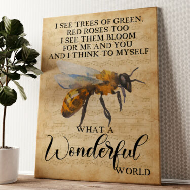 Wonderful World Wandbild personalisiert